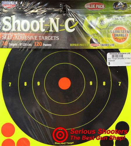 "Buy Birchwood Casey Target Shootnc 8"" Bull 30 Sheet in NZ."