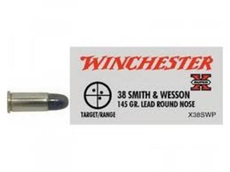 Winchester 38 Smith and Wesson 145gr RNL