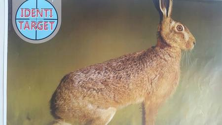 Identi Target Printed Hare Target A3
