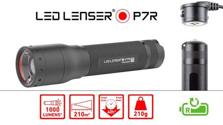*TOP SELLER* LED Lenser P7R 1000 Lumens Rechargeable Spotlight