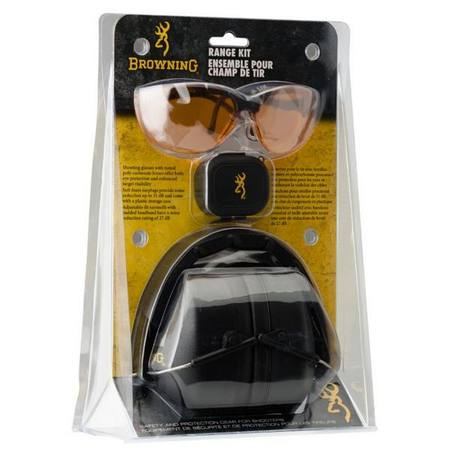 Browning Range Safety Kit includes Ear Muffs & Glasses
