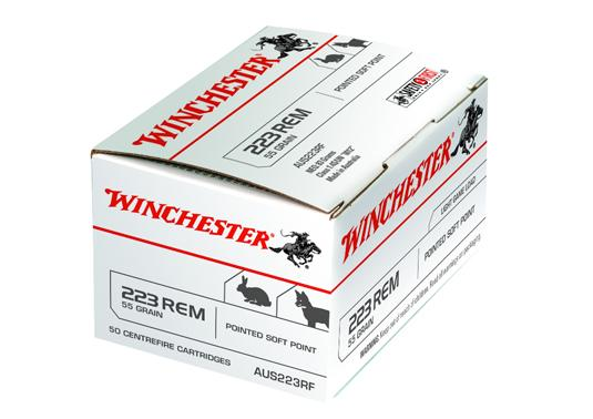 121649 - Winchester 223Rem 55gr Soft Point 50Pack - Beretta Hunting Supplies